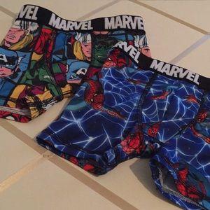 Bundle of two Marvel underwear for boys. NWT
